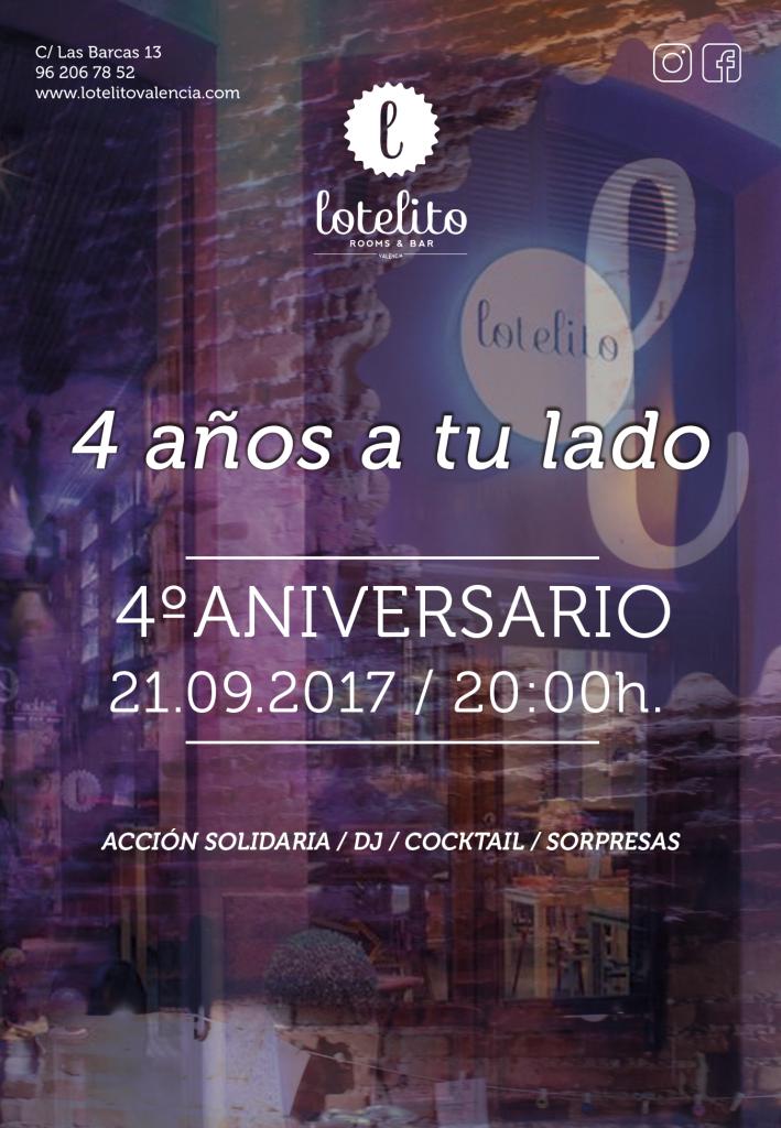 Lotelito celebra su 4º Aniversario