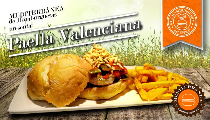 Hamburguesa de Paella Valenciana by Mediterránea de Hamburguesas